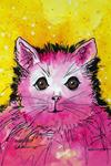"""Charlieze"" - Cosmic Cat art by Renee Ekleberry"