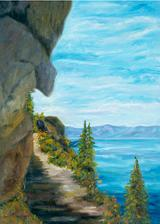 Lake Tahoe Sierra Art Painting by Renee Ekleberry Ekleberry