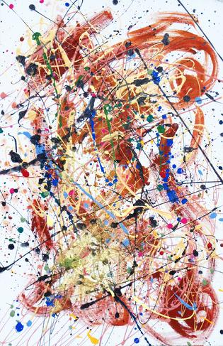 ABSTRACT ART by Renee Ekleberry from Jackson Pollock Private Little Nightmare series