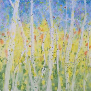 ABSTRACT aspens by Renee Ekleberry