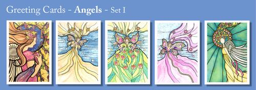 ANGEL Greeting Cards by Renee Ekleberry