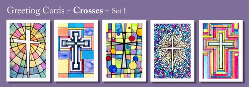 CROSSES - Greeting Cards by Renee Ekleberry