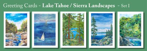 LAKE TAHOE / SIERRA Greeting Cards by Renee Ekleberry