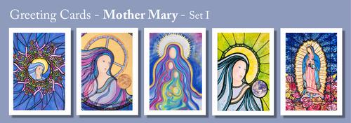 MOTHER MARY Greeting Cards by Renee Ekleberry