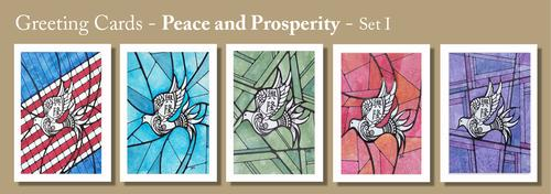 PEACE & PROSPERITY Greeting Cards by Renee Ekleberry