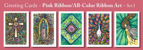 PINK RIBBON Greeting Cards by Renee Ekleberry